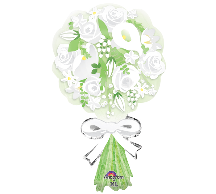 "30"" SuperShape Bouquet For the Bride Balloon Packaged"