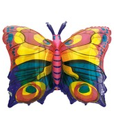 "27"" See-Thru SuperShape Jewel Butterfly Balloon"