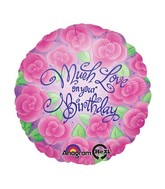 "18"" Much Love Birthday Balloon"