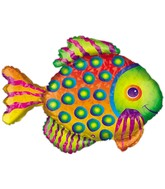 "33"" Jumbo Prismatic Fish Holographic Balloon"