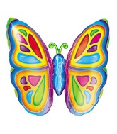 "25"" Bright Colorful Butterfly Balloon"