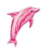 "37"" SuperShape Pink Dolphin Balloon"