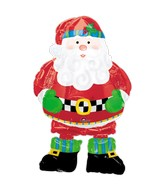 "37"" Airwalker Whimsical Santa Balloon Packaged"