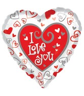 "18"" Simply Said Love Mylar Balloon"