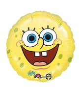 "18"" SpongeBob Balloon Smiles Face Mylar"