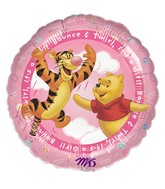 "18"" Winnie the Pooh It&#39s A Girl! Balloon"