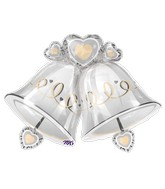 "35"" Jumbo Wedding Bells Balloon"