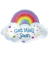 "24"" Get Well Rainbow SuperShape"