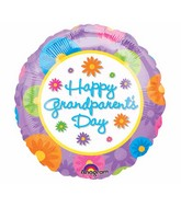 "18"" Happy Grandparent&#39s Day Balloon Packaged"