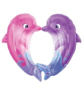 "34"" Kissing Dolphins SuperShape"