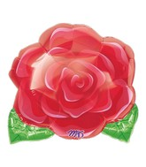 "18"" Blooming Rose  Mylar Balloon"