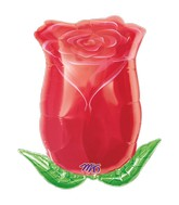 "18"" Rose Bud  Mylar Balloon"