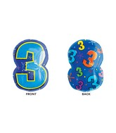 "20"" Junior Shape 3 Multi-Color Balloon"