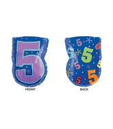 "20"" Junior Shape 5 Multi-Color Balloon"