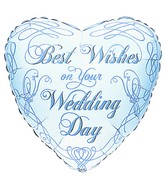 "18"" Wedding Doves Best Wishes Mylar Balloon"