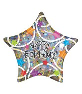 Anagram 33574 Burst Happy Birthday Foil Balloon 35 Multicolored
