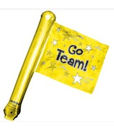 "26"" Yellow Rally Flag (airfill-self sealing)"