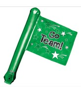 "26"" Green Rally Flag (airfill-self sealing)"