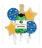 Bouquet Champagne Bottle Balloon Packaged