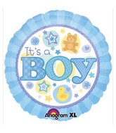 "18"" It&#39s A Boy Blue  Mylar Balloon"