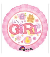 "18"" It&#39s A Girl Pink Mylar Balloon"