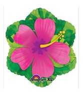 "18"" Pink Hibiscus Shape Balloon"