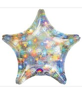 "18"" Holographic Star Holo Fireworks Star Balloon"