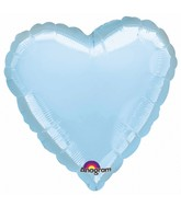"9"" Airfill Only Heart Pastel Blue Heart Balloon"