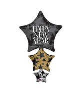 "42"" SuperShape Happy New Year Stacker Balloon Packaged"