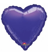 "9"" Airfill Only Heart Purple Heart Balloon"