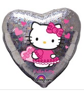 "18"" Hello Kitty Balloon Love Holographic"