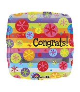 "18"" Congrats Bubble Burst Balloon Packaged"