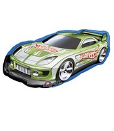 "36"" Hot Wheels Green Racer Car"