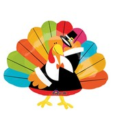 "28"" SuperShape Fun Turkey Balloon"