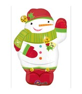 "21"" Junior Shape Jolly Snowman Balloon"