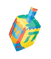 "27"" SuperShape Dreidel Balloon Packaged"