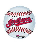 "18"" MLB Cleveland Indians Baseball Balloon"