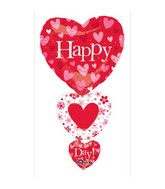 "36"" SuperShape Valentine Stacker Balloon"