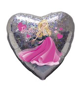 "18"" Barbie Hearts Holographic Balloon"