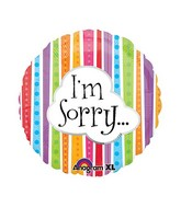 "18"" I&#39m Sorry Colorful Lines Balloon Packaged"