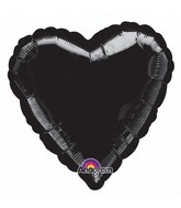 "9"" Airfill Only Heart Black Heart Balloon"