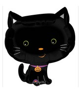 "20"" Junior Shape Cute Halloween Kitty Balloon"