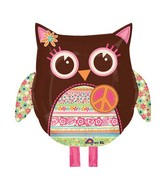 "22"" Hippie Chick Owl Balloon"