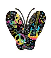 "33"" Birthday Rock Butterfly Balloon"