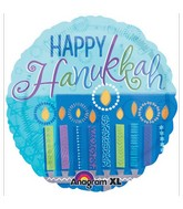"18"" Hanukkah Wishes Balloon"