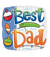 "18"" Best Dad Balloon Packaged"