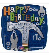 "18"" Mr. Fix-It Birthday Mylar Balloon"
