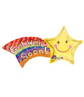 "27"" Get Well Shooting Star SuperShape"