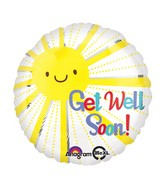 "18"" Get Well Soon Sunshine Mylar Balloon"