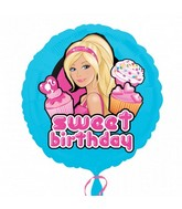 "18"" Barbie Sweet Birthday Mylar Balloon"